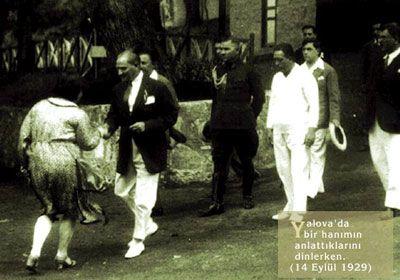 Atatürk ve bir hanım vatandaş (Yalova 1929)