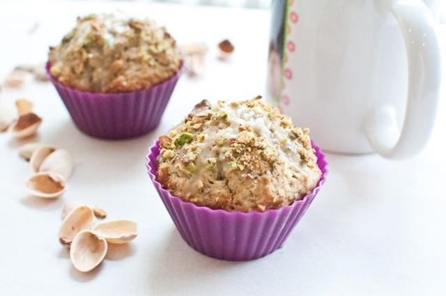 pistachio chai muffin