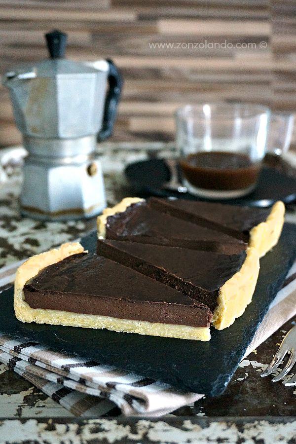 Chocolate and coffee tart - Crostata del ghiottone (cioccolato e caffè) | From Zonzolando.com