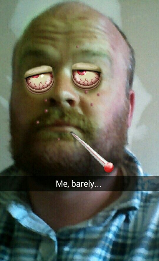 Me with a snap filter added...