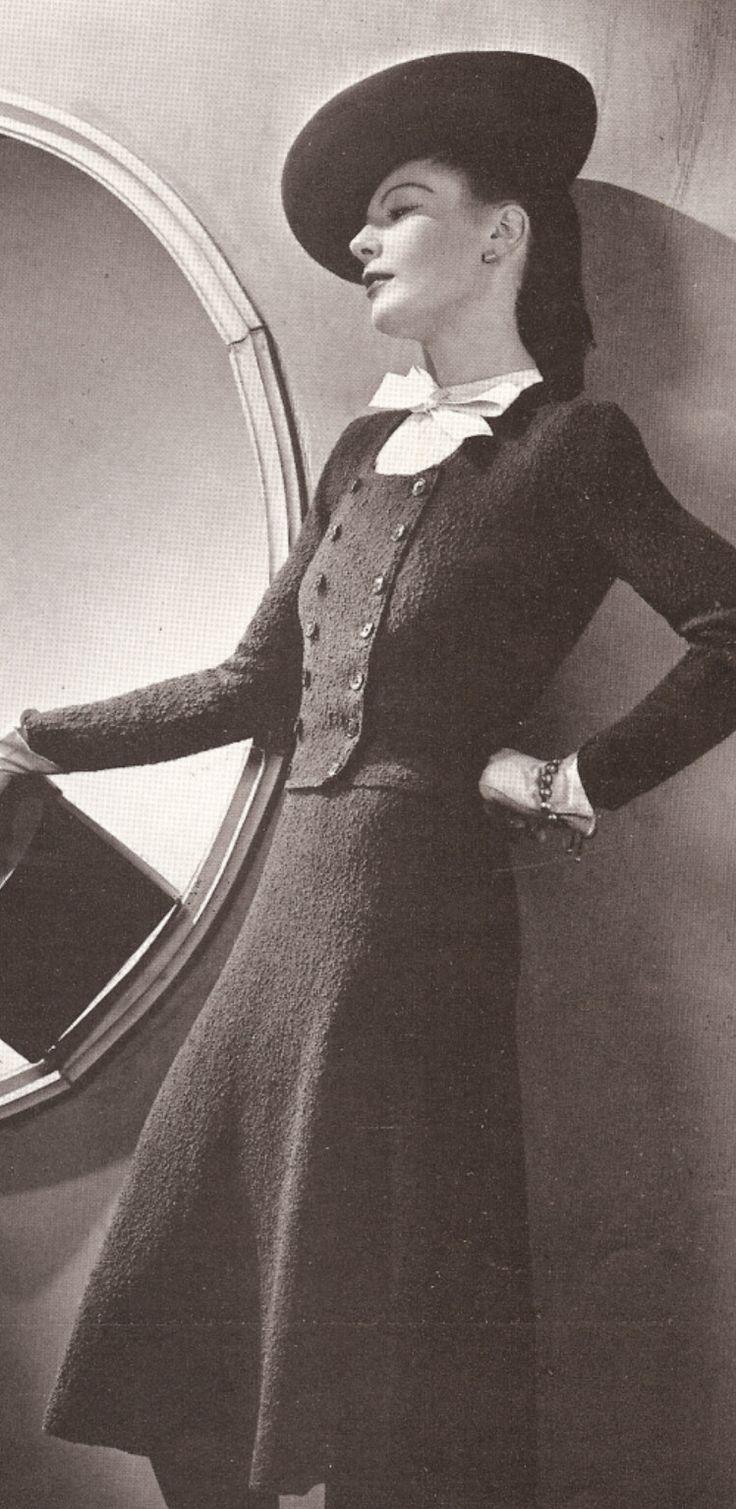 Vintage Vogue Suit Dress