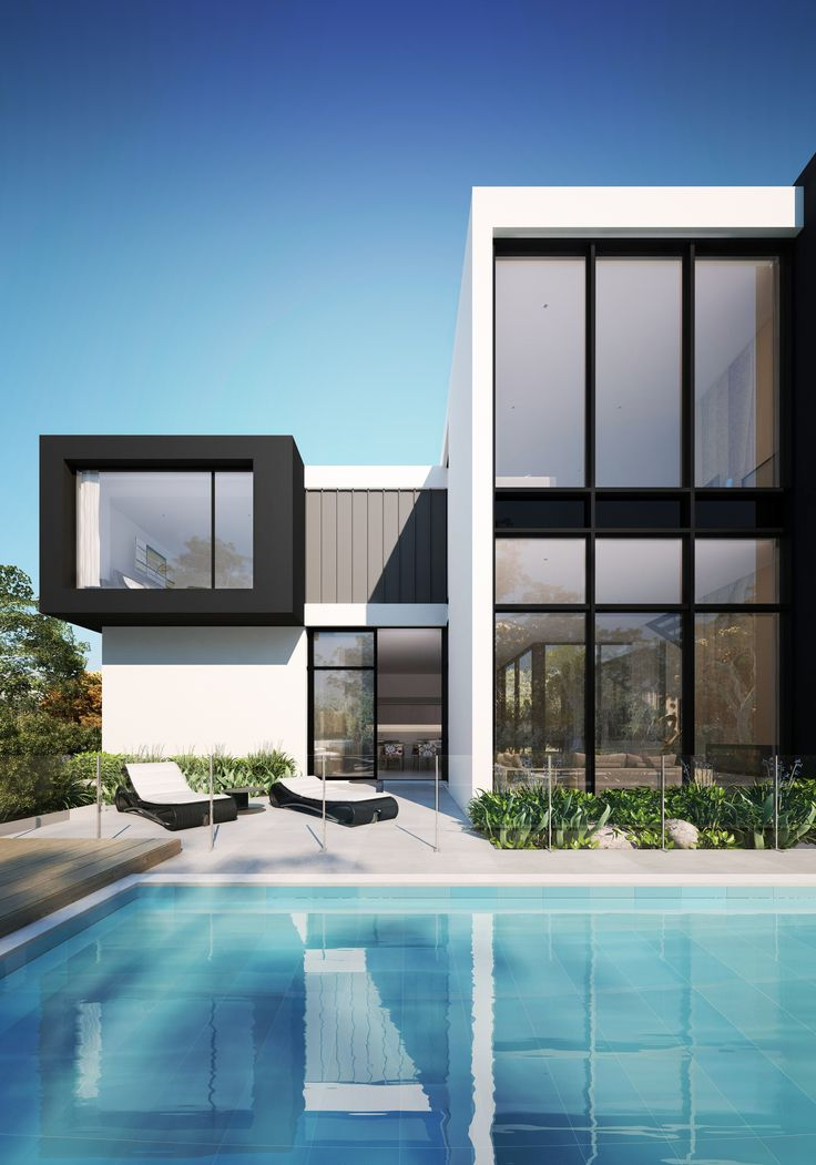 It's like fashion, black and white is the most chic way to go. - The Property Exchange  Main Drive Kew, Melbourne, Australia