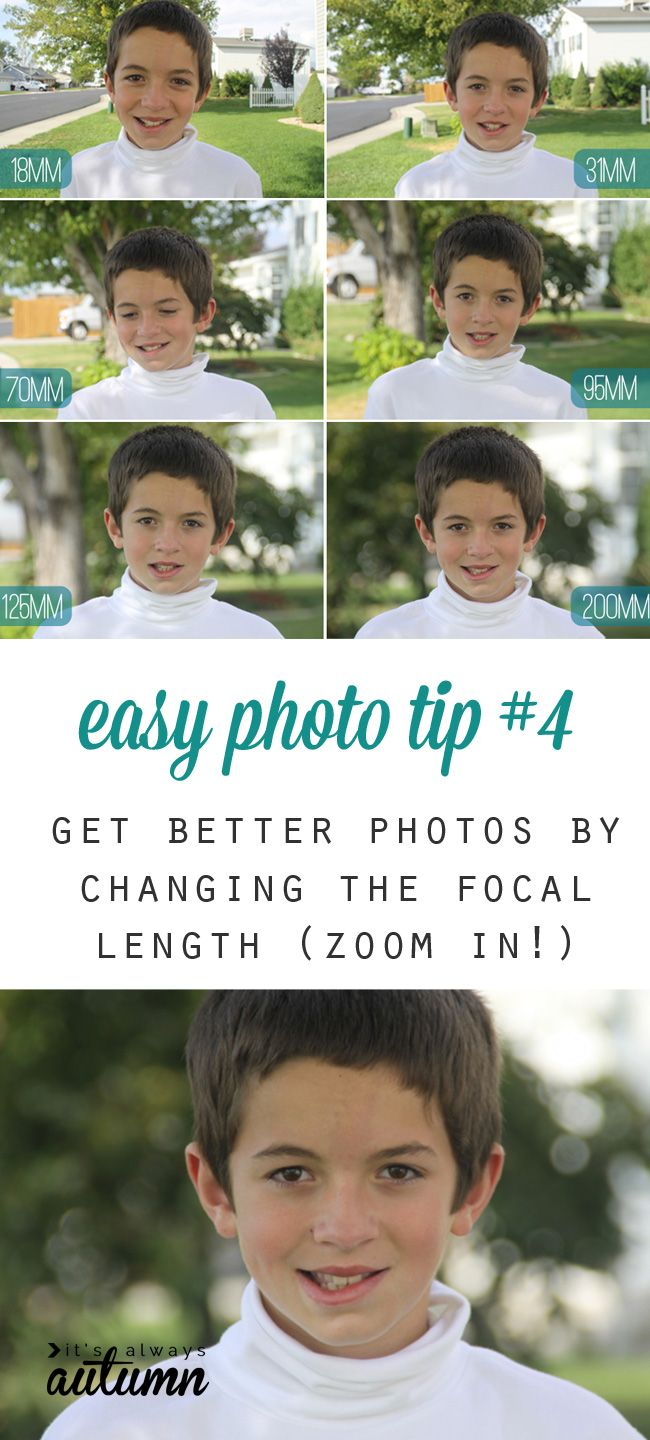 did you know just zooming in can dramatically improve the look of your photos? get more flattering photos by changing the focal length - easy photography tip!
