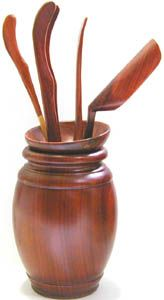 Ten Ren Tea's Rosewood Tea Tools with Vase