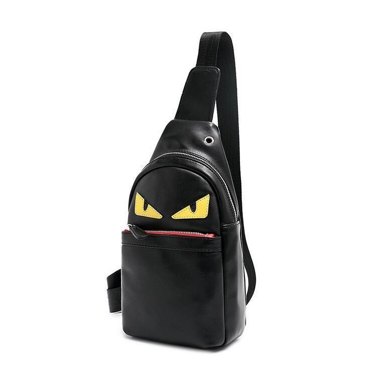 7d3c84ac87 FENDI Inspired Little Monster Eye PU Leather Chest Pack Crossbody ...