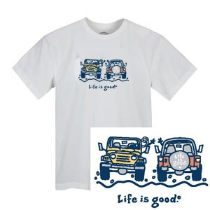 256d57ef Life is Good Jeep Wave Tee ($26) | Jeep World Accessories | Jeep shirts,  Jeep, Jeep wrangler parts