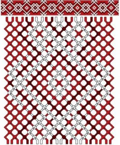 Схема фенечки прямым плетением с именами на МногоСхем.ру