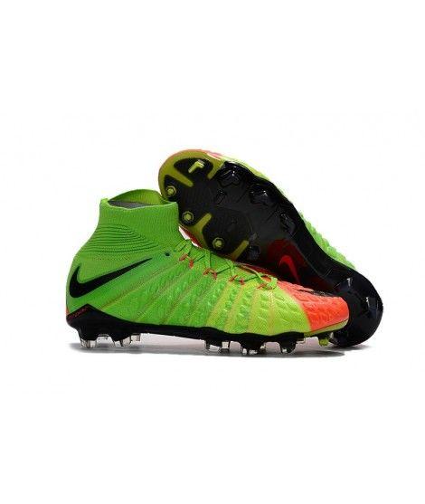Nike Hypervenom Phantom III DF FG PEVNÝ POVRCH Zelená Oranžový Černá Kopačky
