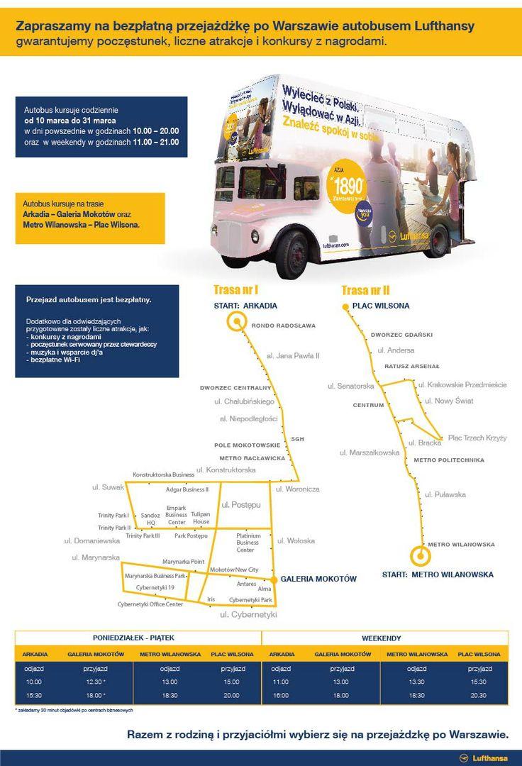 Autobus Lufthansy - #Warszawa, 10-31.03.2014