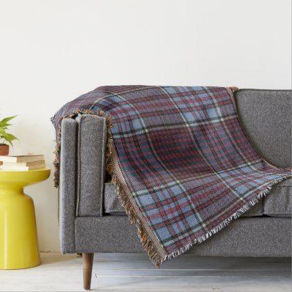 RCAF-M Original Tartan Throw Blanket - pattern sample design template diy cyo customize