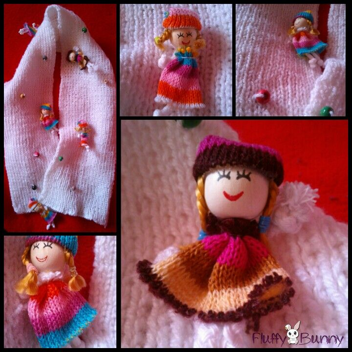 Happy doll scarf! #knitting #handmade