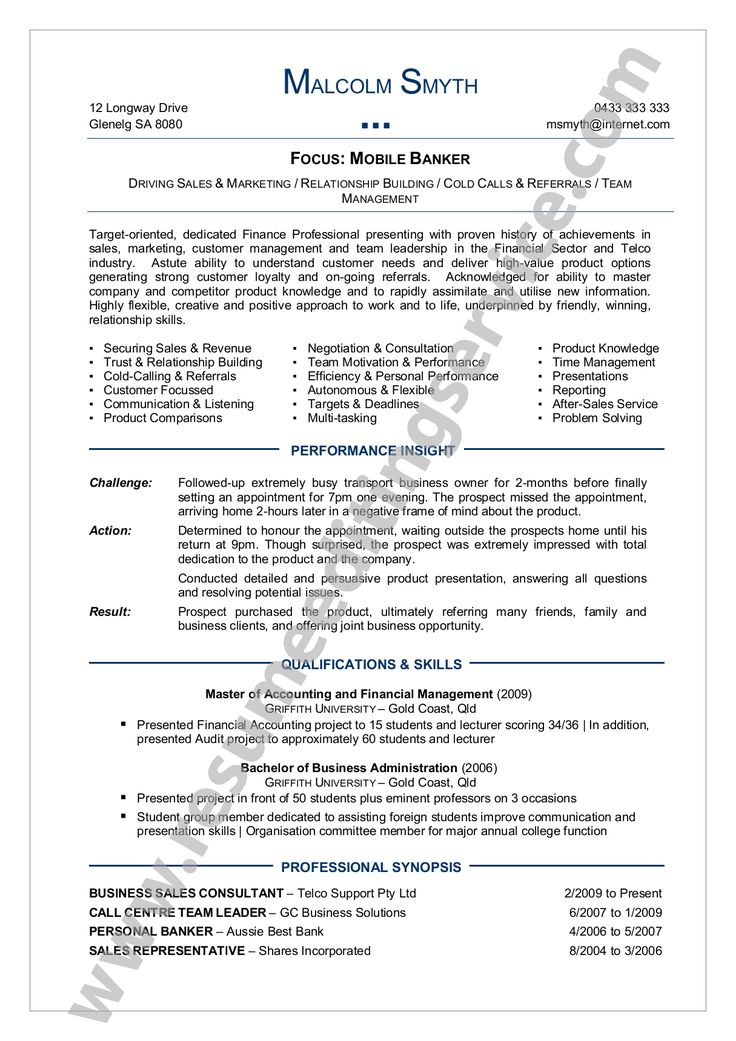 Resume Formatting Examples. Sample Military Resume Template