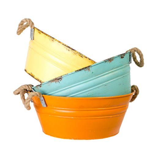 DWBH Iron Ice Buckets (Set of 3) with Rope Handle Buy Now Price: $75.00