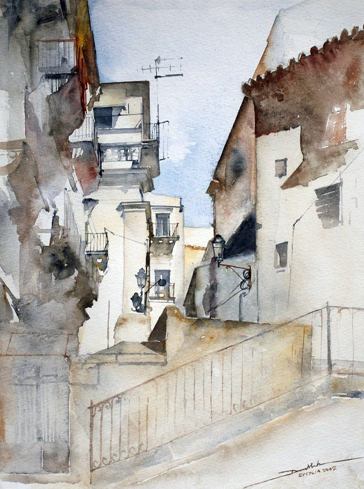 minh dam - line & wash travel sketching