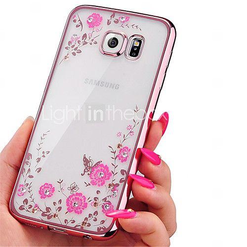 Pour Samsung Galaxy Coque Strass Plaqué Transparente Motif Coque Coque Arrière Coque Fleur PUT pour SamsungA7(2016) A5(2016) A3(2016) A9 - EUR €3.91