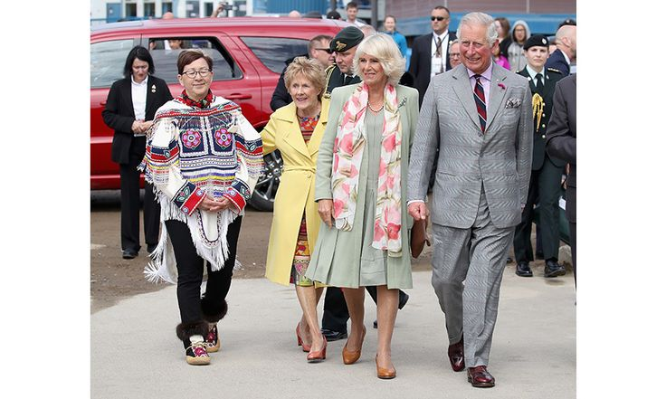 <h4>Day One</h4><br>Governor General David Johnston and his wife Sharon were on hand to welcome Prince Charles and Camilla when they touched down in Nunavut on Thursday afternoon.   <p>The couple were greeted in Iqaluit with an official welcome ceremony at the Nunavut Legislative Assembly.</p>  Photo: Chris Jackson-Pool/Getty Images