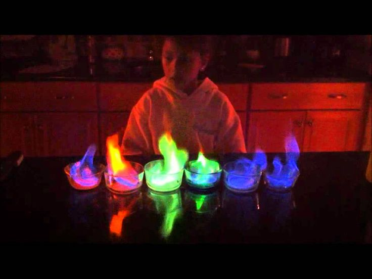 5th grade science project rainbow flame