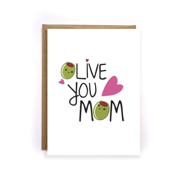 Cute love you mom card unique mothers day card mom