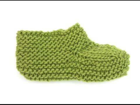 TUTO CHAUSSON CHAUSSETTE ADULTE AU TRICOT adult tutorial slipper sock knitting easy - YouTube