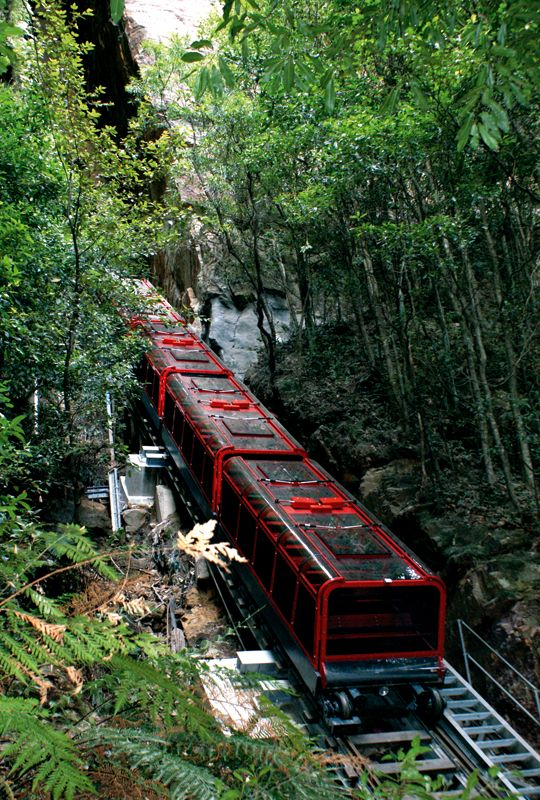 Scenic Railway, Scenic World. Blue Mountains Australia. I've been here...what a beautiful place!