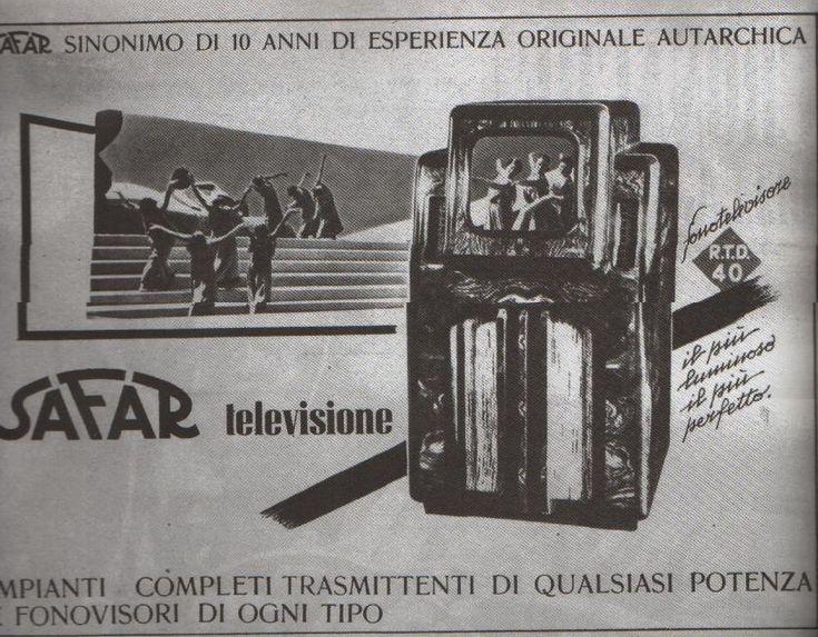"""Il primo televisore italiano (1936, da """"L'illustrazione italiana"""")"""