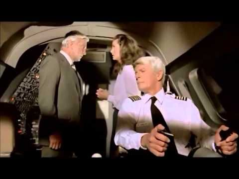 AIRPLANE (1980) starring Robert Hays, Julie Haggerty, Leslie Nielsen. A man afraid to fly must ensure that a plane lands safely after the pilots become sick.
