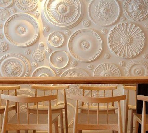 Decorar paredes con molduras de yeso