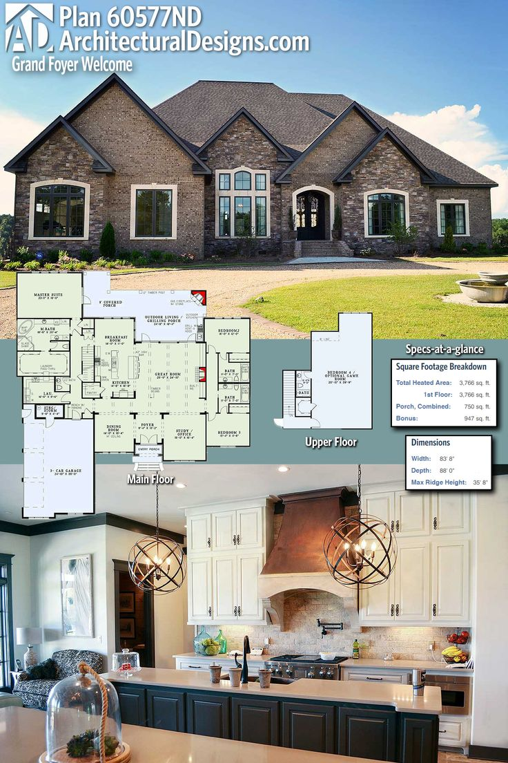 architectural designs house plan 60577nd gives you 3 beds 35 baths and over 3700 square