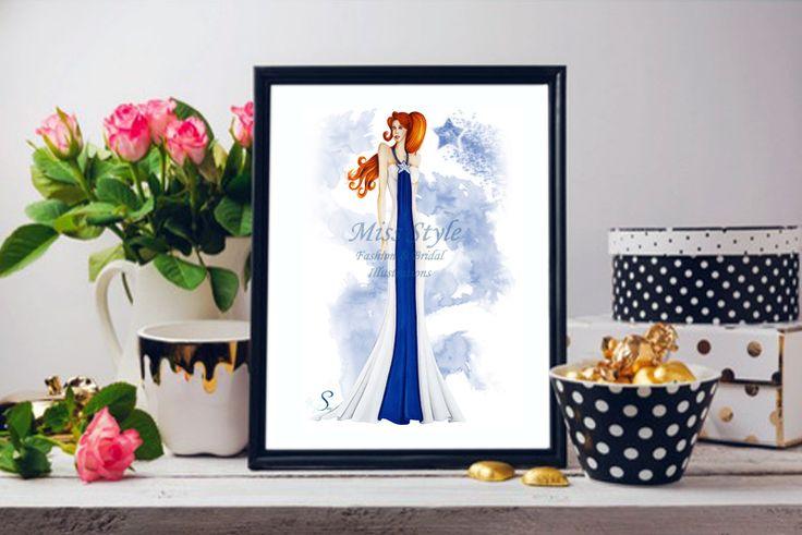 Cometa - Print , Fashion Illustration, fashion illustrator by @MissStyleCreazioni ♥ ♥ ♥ ♥ ♥ ♥ www.etsy.com/shop/MissStyleCreazioni ♥ ♥ ♥ ♥ ♥ ♥