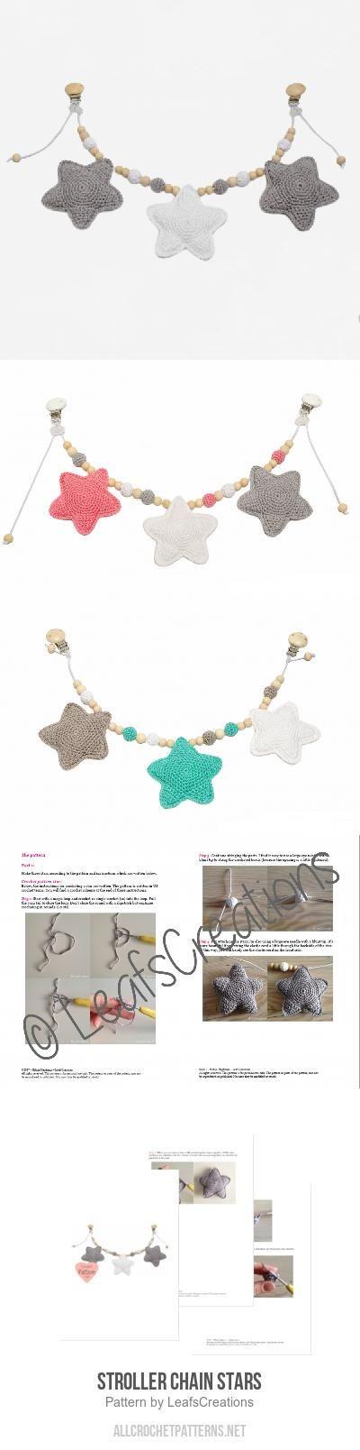 Stroller chain stars crochet pattern