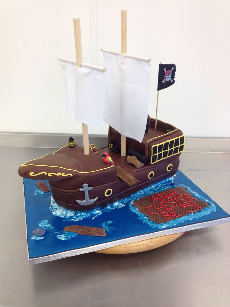 Our amazing pirate ship cake