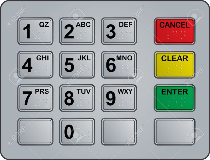 Keypad Of An Automated Teller Machine Royalty Free Cliparts, Vectors, And Stock Illustration. Image 5777719.