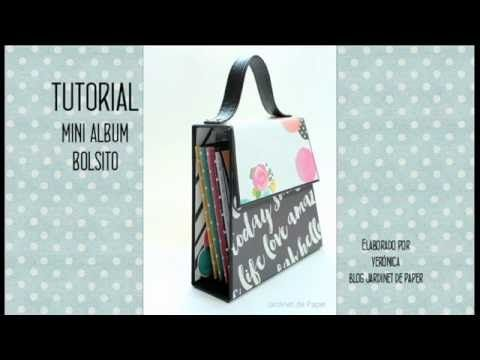 Tutorial para hacer un Mini Album Bolso de scrapbooking - Up&Scrap Blog