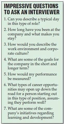Great questions to ask an interviewer, to show that you are really interested in the job.