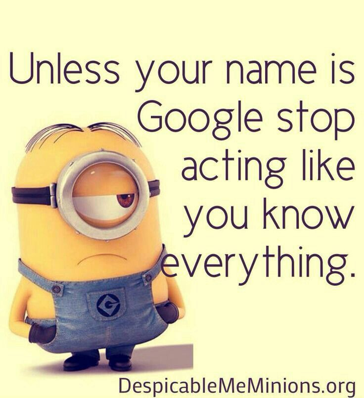 Unless your #game is #google #stop acting #like you know everything #letsgetwordy