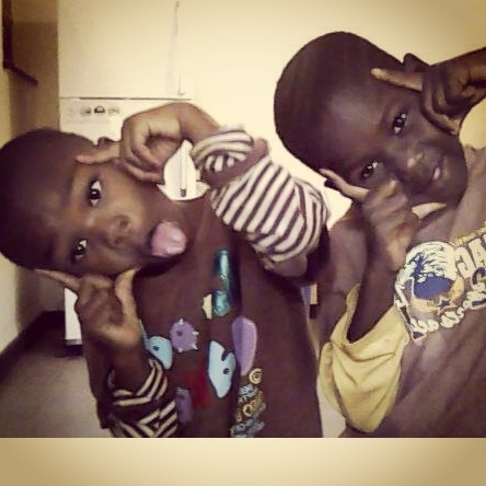 Cheeky smiles in the Children's Home in Kisumu Kenya. Please consider sponsoring our children www.suluhisho.com and putting more smiles on beautiful faces
