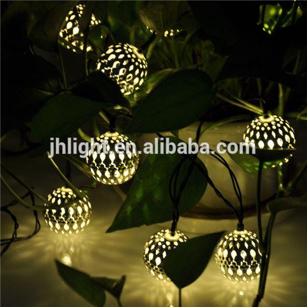 10 ballen marokkaanse lantaarns zonne snaar kerst boom ballen binnen buiten verlichting, geleid zonne-energie buitenverlichting kerst boom licht