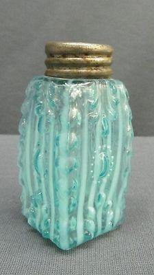 Antique Victorian Opalescent Jewel & Fan Shell Flower Glass