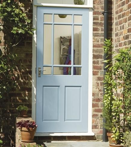 Best 25 back doors ideas on pinterest painted exterior for Back door entrance
