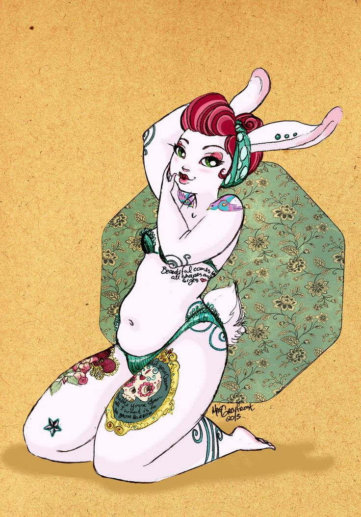 This is one of my Original characters, Harue-bunny. She is plus size and body beautiful!