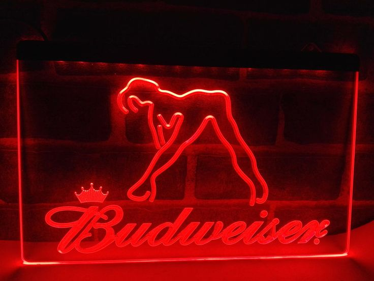 Details about LE133- Budweiser Exotic Dancer Stripper Bar Light Sign home  decor crafts