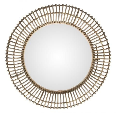 Pluto Rattan Round Mirror