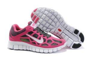 Nike Free Run 3 Kvinner Løpesko Rosa/Grå/Hvit Pustende Mesh