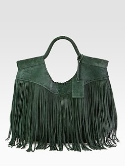 Ralph Lauren Collection - Fringed Suede Hobo