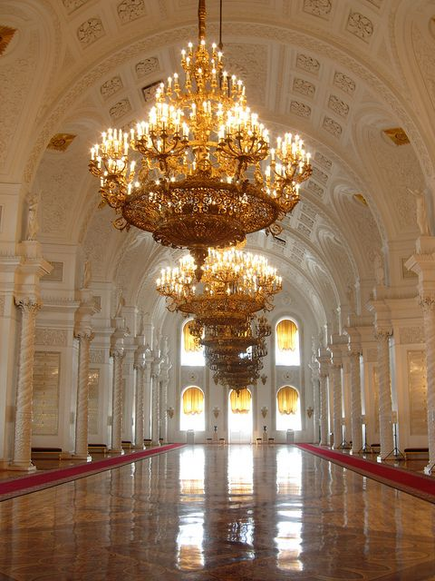 Kremlin Palace, St Georges Hall by BatGirl76, via Flickr