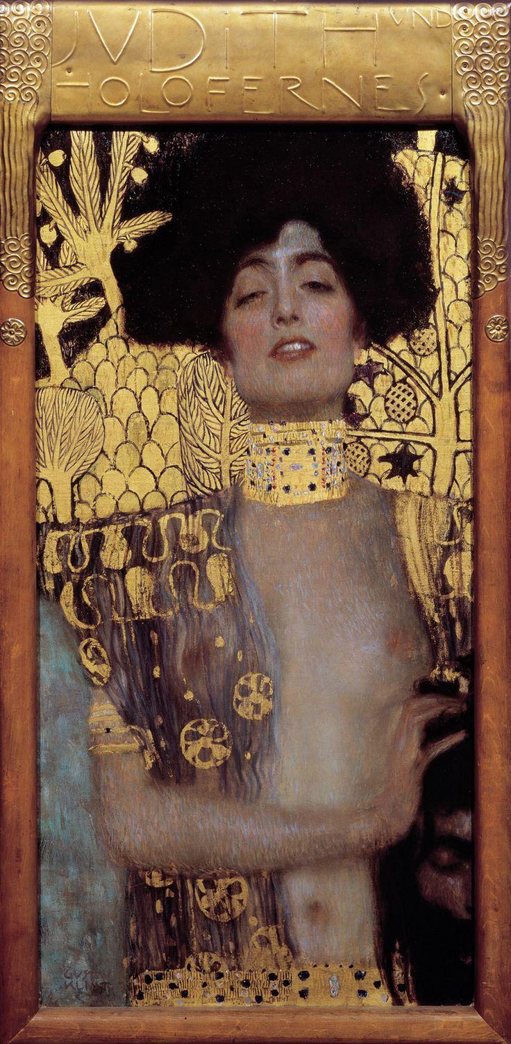 Judith and the head of holofernes gustav klimt artist gustav klimt year 1901 type oil on canvas dimensions 84 cm 42 cm in 17 in location