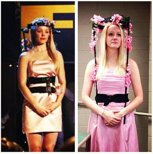 Fashion yourself as resident mean girl Regina George at homecoming. You know, after she walked in front of a bus — or Cady pushed her . . . everyone is still unsure.                  Source: Instagram user rachelcarlock