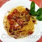 Spaghetti guanciale pomodorini