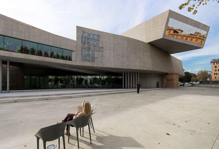 The #MAXXI #museum in #Rome by #ZahaHAdid #architects from http://www.inexhibit.com/case-studies/zaha-hadid-the-maxxi-museum-rome-part-1/