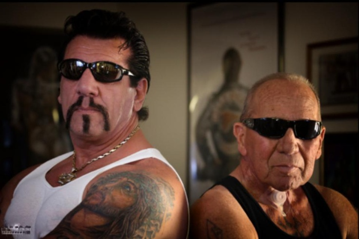 Chuck Zito and Sonny Barger, April 2013. From Chuck's facebook page. He had been uploading pics of Sonny's ranch in Arizona, but finally we get a pic of the man and the man themselves. http://www.facebook.com/OfficialChuckZito